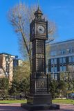 `Big Ben` clock in the Park of the 350 anniversary of Irkutsk Royalty Free Stock Images