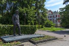 IRKUTSK, RUSSIA - JULY 6, 2019: Monument in irkutsk of A. Vampilov. Russian-Soviet prose writer and playwright stock images