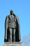 Irkutsk, Russia, March, 09, 2017. The monument to Alexander Vasilyevich Kolchak in Irkutsk in early spring. Irkutsk, Russia, the monument to Alexander Royalty Free Stock Images