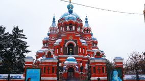 View of Cathedral of an Icon of Kazan Divine Mother in Irkutsk stock video