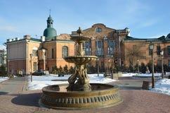 Irkutsk Ryssland, mars, 03, 2017 ` För ` för springbrunn`-svanesång och stora Ben för ` i parkera av årsdagen 350 av Irkutsk i de Royaltyfria Foton