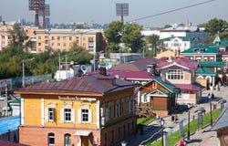 Irkutsk Sloboda 130 Quarter located in Irkutsk, Russia. Stock Image