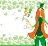 irländare för 3 flicka Arkivbild