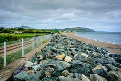 Irländare seglar utmed kusten Arkivbild