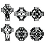Irländare skotskt keltiskt kors på det vita tecknet Royaltyfri Bild