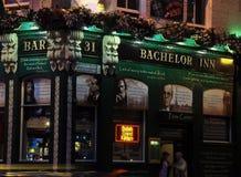 Irländsk bar Dublin Fotografering för Bildbyråer