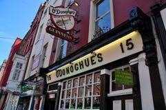 Irländsk bar Dublin Arkivfoto