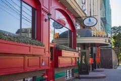 Irländsk bar på Krasnodar Royaltyfria Bilder