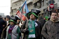 Sanktt Patricks dag i Bucharest 5 Fotografering för Bildbyråer