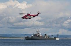 Irländsk kustbevakning och marin Fotografering för Bildbyråer