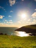 irländsk liggande Landskap för kustlinjeAtlantic Ocean kust fotografering för bildbyråer