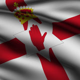 irländsk nordlig framförd fyrkant för flagga Royaltyfria Bilder