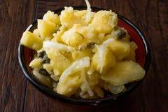 Irländsk potatiscolcannon/mosade potatisar med löken fotografering för bildbyråer