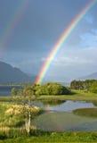irländsk regnbåge arkivbild