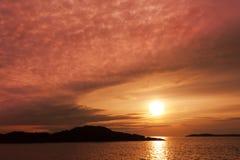 irländsk solnedgång wales för hav för öllandwynnorr royaltyfria foton