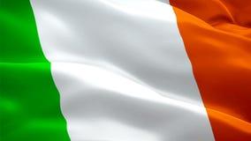 Den irländska flaggan Stängs upp 1080p Full HD 1920X1080-filmvideo som vindar Nationell Dublin 3d Irländsk flagga som viftar Unde vektor illustrationer