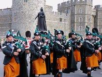 irländska kungliga marschkommandosoldater för band Royaltyfri Bild
