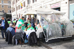 Irländska supportrar Fotografering för Bildbyråer