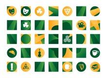 Irländska symboler Stock Illustrationer
