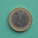 Irländskt euromynt Royaltyfri Fotografi