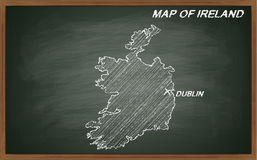 Irland auf Tafel Stockbilder