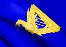 Irland Eagle Harp Flag stock illustrationer