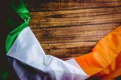 Irland flagga på trätabellen Royaltyfri Bild