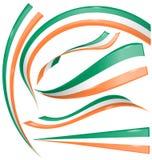Irland flaggauppsättning Arkivbild
