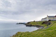 Irland-Küsten-Dorf Stockbilder