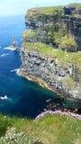 Irland klippor av Moher Arkivbild