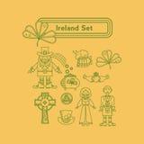 Irland linjära vektorsymboler Arkivfoton