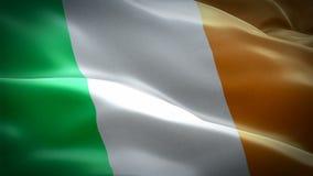 Irland som har flaggat Nationell 3d Irländsk flagga som viftar Signal för Irlands sömlösa loop-animering HD-upplösning för irländ stock illustrationer