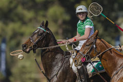 Irlanda das mulheres dos cavalos do campeonato do mundo de PoloCrosse Imagem de Stock