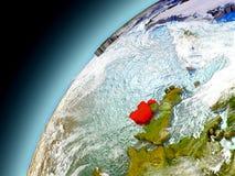 Irlanda de la órbita de Earth modelo Fotografía de archivo libre de regalías