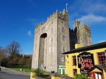 Irlanda - 30 de novembro de 2017: Ideia bonita do ` s da Irlanda a maioria de bar famoso do castelo e do irlandês no condado Clar imagem de stock royalty free