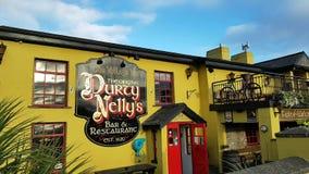 Irlanda - 30 de novembro de 2017: Ideia bonita do ` s da Irlanda a maioria de bar famoso do castelo e do irlandês no condado Clar vídeos de arquivo