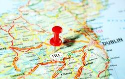 Irlanda, mapa de Reino Unido Foto de Stock Royalty Free