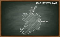Irlanda no quadro-negro Imagens de Stock