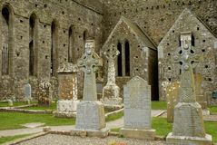 Irlanda, roca de Cashel 4, cementerio Imagen de archivo
