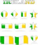 Irlanda señala el botón por medio de una bandera Libre Illustration