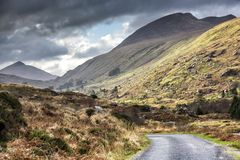 Irlanda vazia 0002 da estrada Fotos de Stock Royalty Free