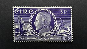 Irlanda velha do selo postal, EIRE 3p foto de stock royalty free