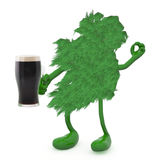 Irlanda y taza de cristal de cerveza oscura Fotos de archivo