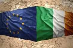 Irlanda y unión europea libre illustration