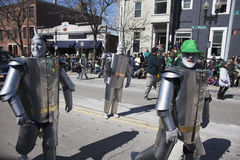 Irlandais Tin Man, défilé du jour de St Patrick, 2014, Boston du sud, le Massachusetts, Etats-Unis Images libres de droits