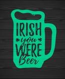 Irlandczyk Ty Byłeś Piwny royalty ilustracja