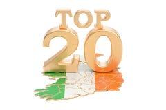 Irlandczyka wierzchołka 20 pojęcie, 3D rendering Zdjęcie Royalty Free