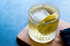 Irlandese Ale Cocktail con Ginger Beer, il limone ed il ghiaccio immagine stock
