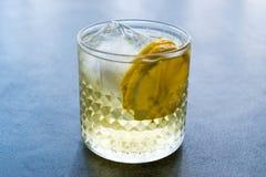Irlandese Ale Cocktail con Ginger Beer, il limone ed il ghiaccio immagine stock libera da diritti
