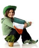 Irlandese a cuore Immagine Stock